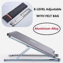 NEW 8-LEVEL Cooling Rack Folding Adjustable Angle Aluminum Alloy Desktop Portable Holder Office Univ
