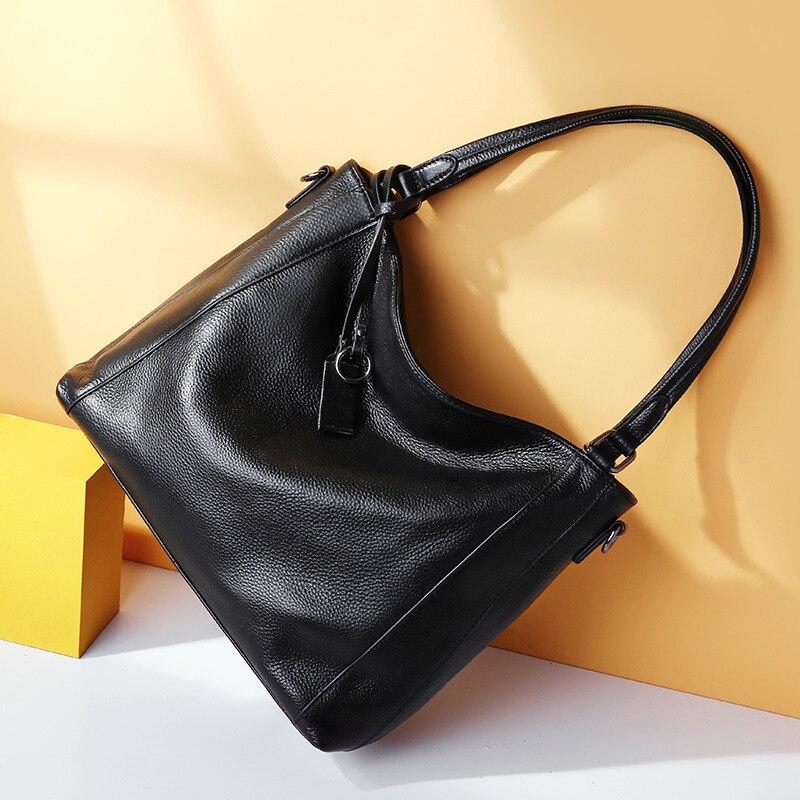 جلد المرأة حقيبة 2021 موضة جديدة المرأة حقيبة سعة كبيرة المرأة المحمولة واحد الكتف حقيبة ساعي حمل حقيبة