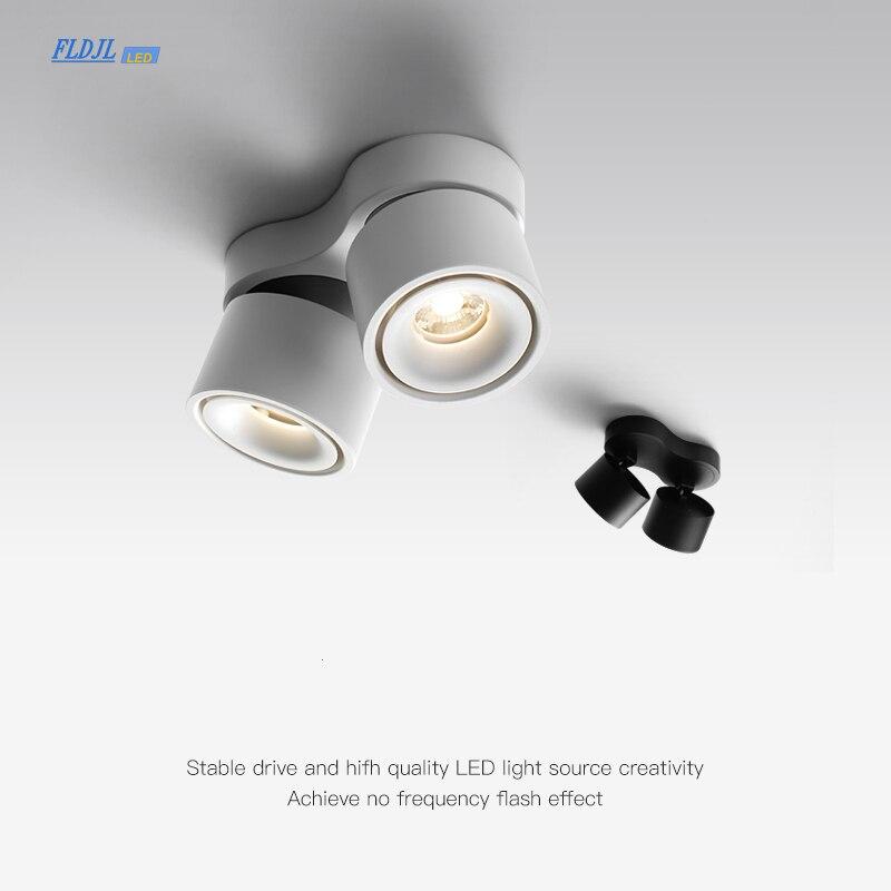 luminaria led cob ajustavel para superficie 20w 24w luz de teto rotativa com driver led ac110v 220v