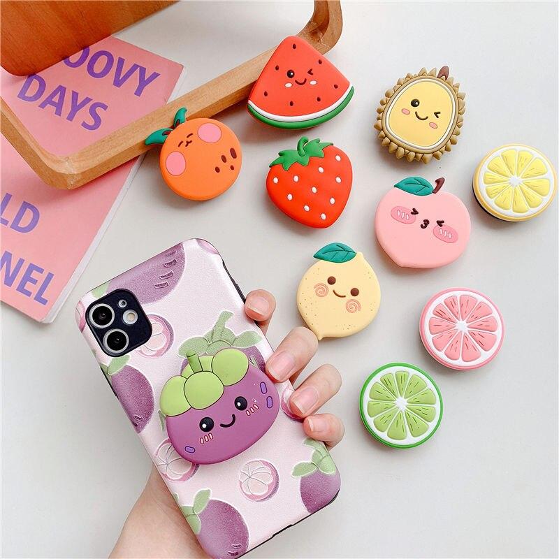Soporte para teléfono, soporte para dedo, soporte para fruta encantadora, soporte plegable para teléfono móvil para IPhone, Samsung, Huawei, Xiaomi