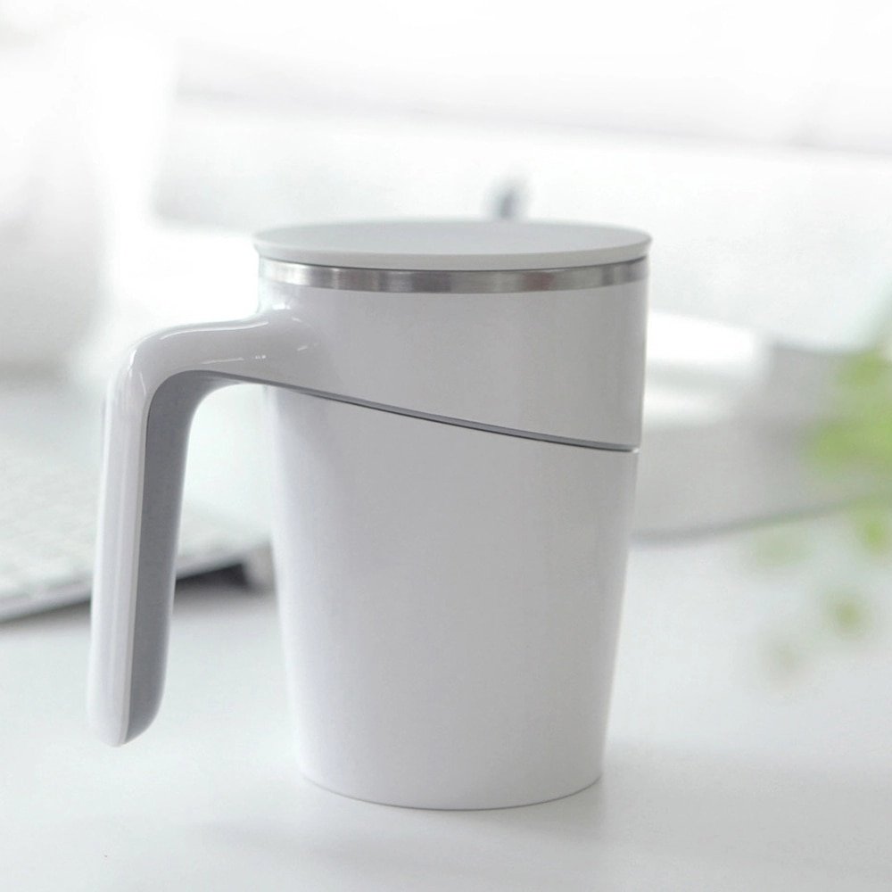 Elegant Cup 470ml Stainless Double Safe Splash Proof Leakproof Innovative Magic Nonslip Sucker Pouring Cup For Office