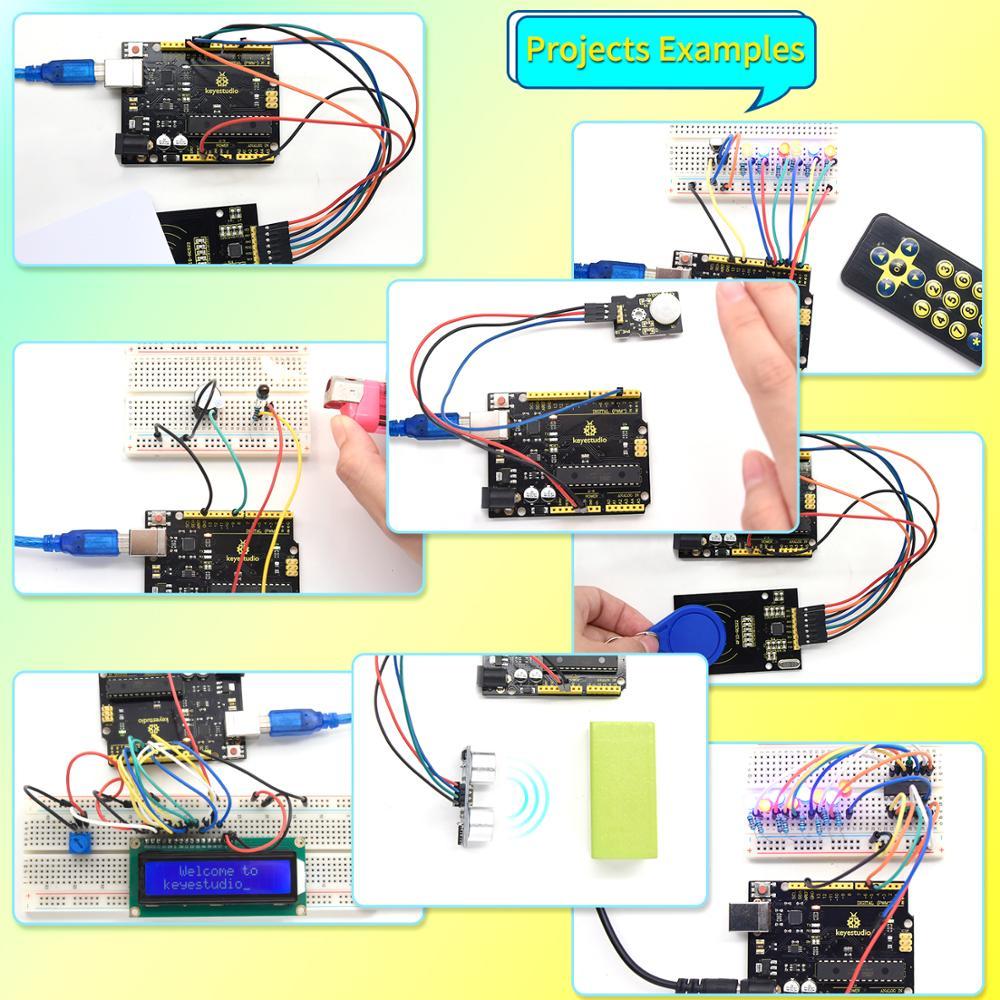NEW Upgraded Keyestudio Super Starter kit with V4.0 Board  for Arduino Starter kit  for UNOR3 32Projects + Tutorial W/Gift Box