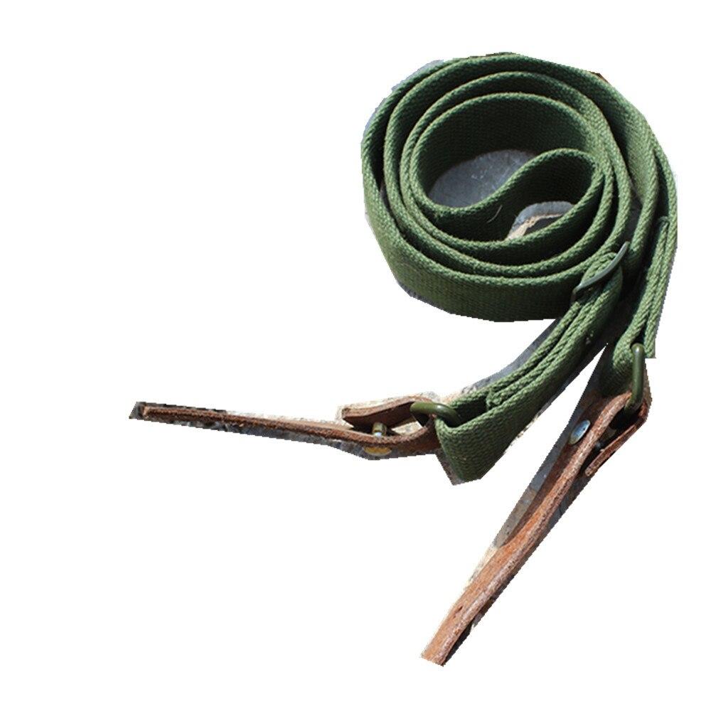 Китайский 56 ремень AK/SKS, Оригинальный китайский армейский ремень для наружного снаряжения, подтяжки на плечо, армейский зеленый, военное сна...