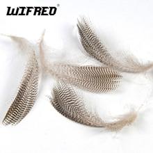Wifreo 20 unids/bolsa Natural Barred real pato flanco plumas de ganso salvaje para Fly Wings Tails Streamers atado de moscas Material