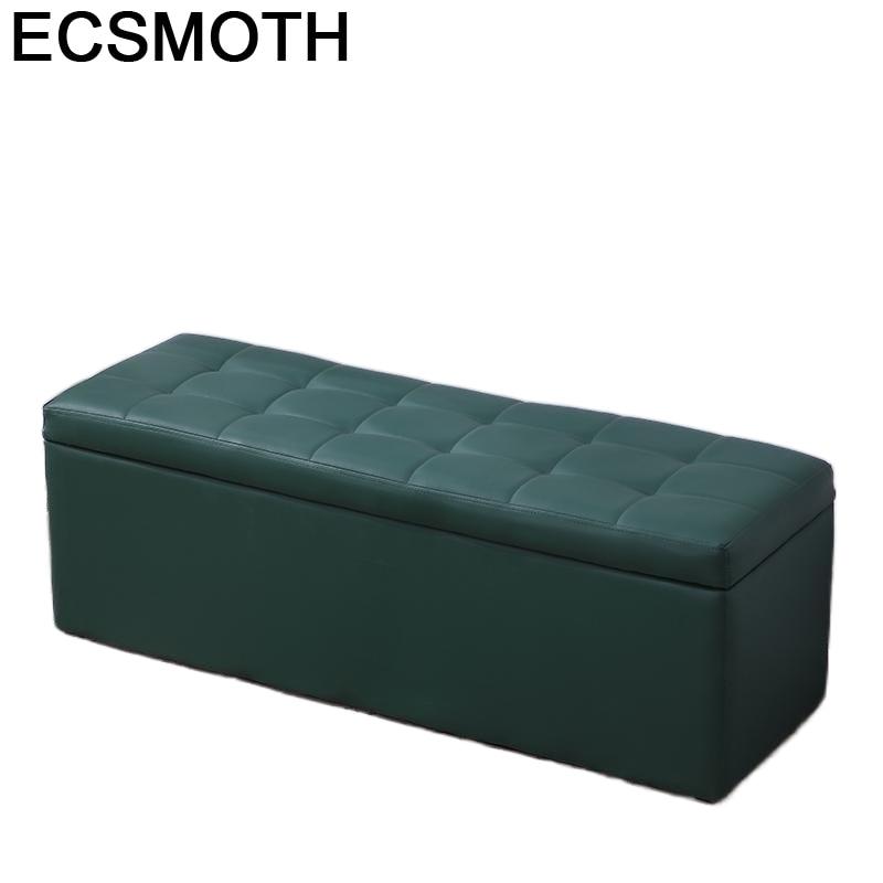 Asiento-sofá Plegable para sala de estar, Taburete para pies
