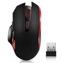 Nouvelle souris de jeu optique sans fil chaude G821 2.4G souris ergonomique Portable sans fil