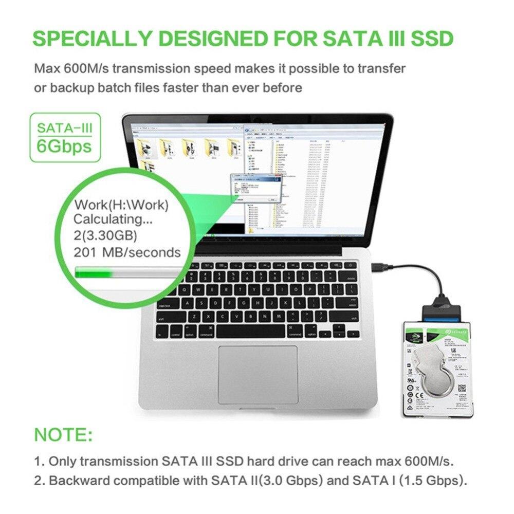 Купить с кэшбэком Sata CableTo USB 3.0 Adapter Suport 2.5 Inches External SSD HDD Hard Drive 22 Pin Sata III Cable USB Sata Adapter for laptop