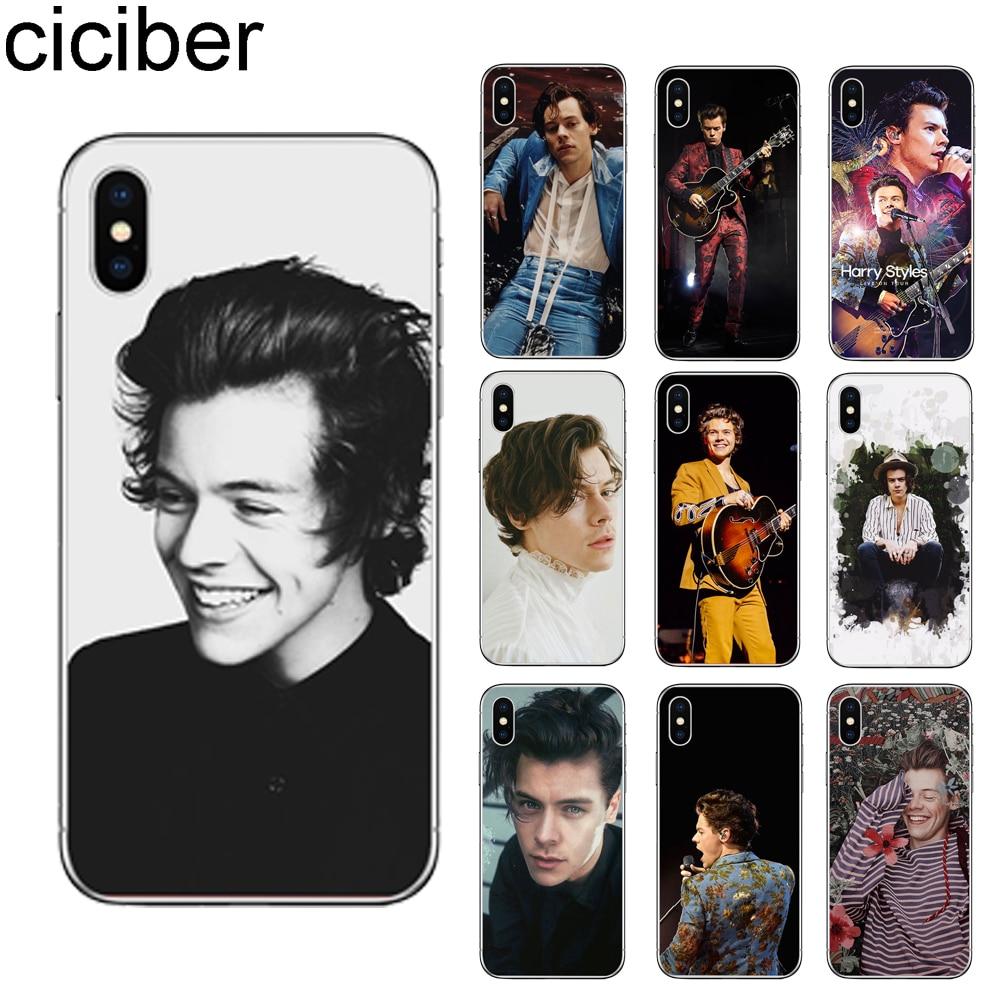 Ciciber Harry estilos caja del teléfono para iPhone 7 7 6 6S Plus 5 5S SE X XR XS Max TPU suave negro Fundas para iPhone 11 Pro Max Coque