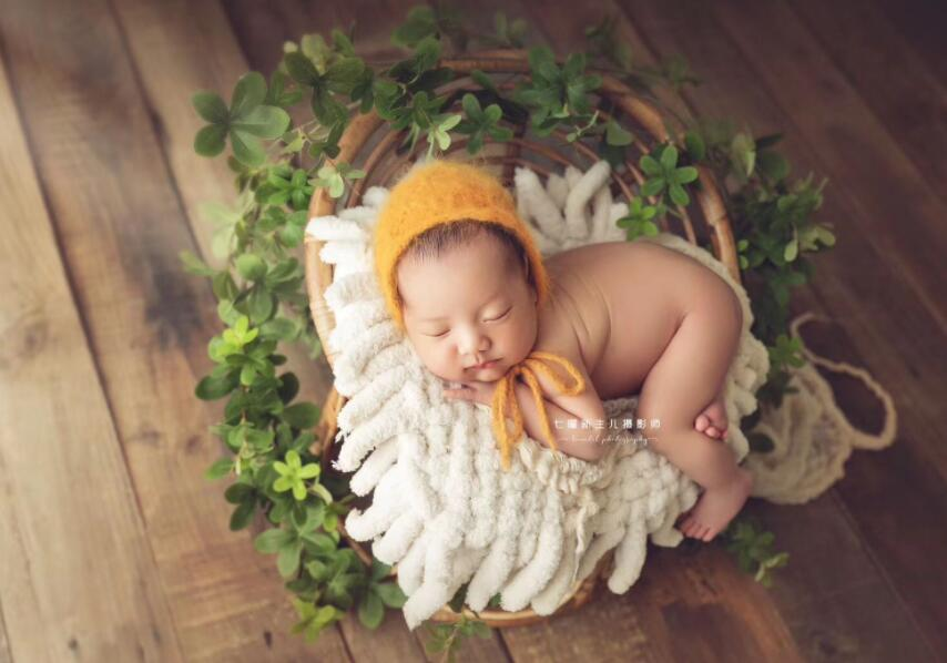 Baby Photography Props Handmade Bamboo Basket Vintage Chair For Girls Boys Newborn Photo Shoot Posing Sofa Fotografia Acessorio