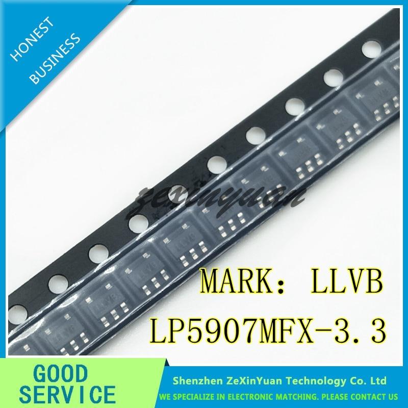 20 unids/lote LP5907MFX-3.3/NOPB-LP5907MFX-3.3 LP5907MFX LP5907 LLVB IC REG LDO, 3,3 V 0.25A SOT23-5