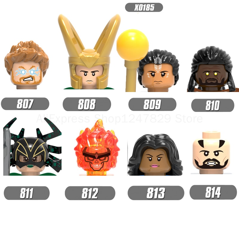 twisty parallel universe блузка 2021  X0185  movie characters Hero Parallel universe Figures Fittings Head Building Block Toys Children