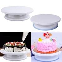 plastic cake plate turntable rotating anti skid cake stand cake decorating rotaring table cake spatula diy baking kitchen tool