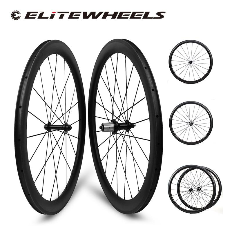 ELITEWHEELS-عجلات سباق كربونية خفيفة الوزن للغاية ، Powerway R13 ، بعمق 30 35 47 50 55 60 88 مللي متر ، للسباق