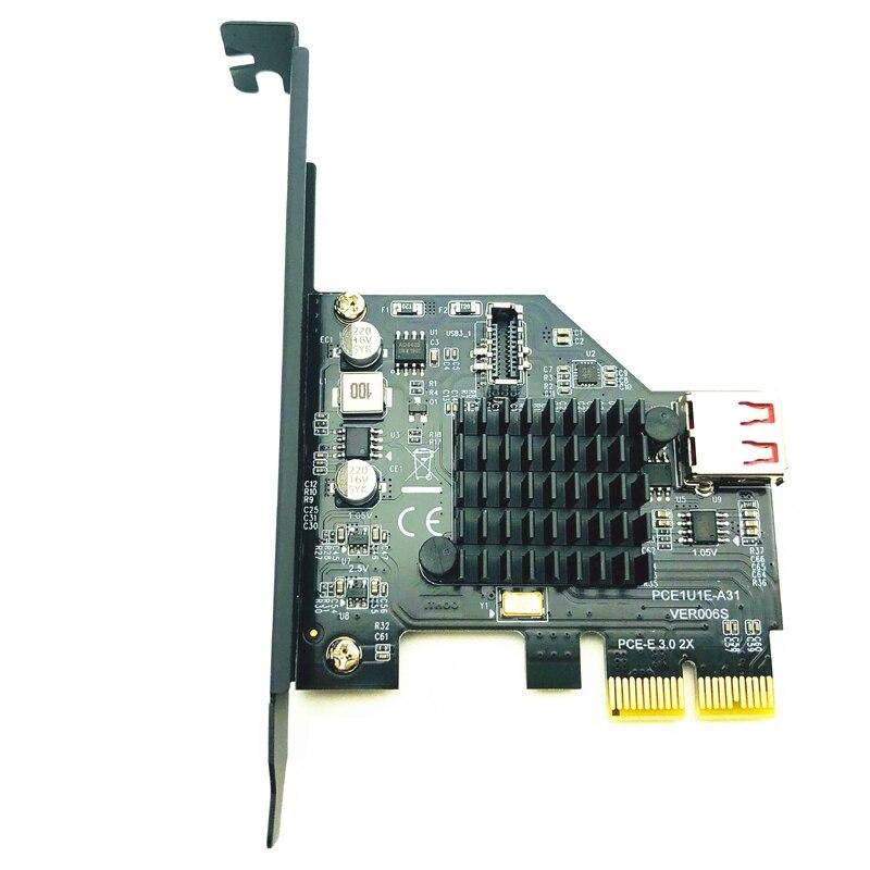 Asm3142 رقاقة 10Gbps USB3.1 الجنرال 2 نوع-E 20 دبوس بطاقة التوسع USB 2.0 Pci Express 3.0X2 مناسبة للكمبيوتر حاسوب شخصي مكتبي