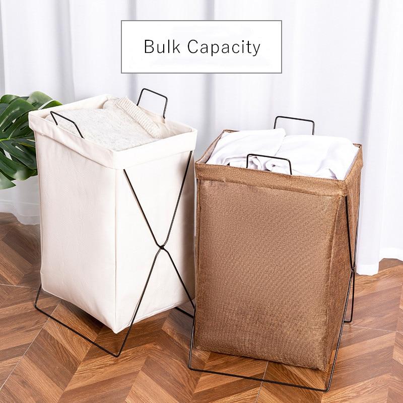 Cesta de lavandería gran organizador plegable drity cesta de lavandería cesta niños Marco de hierro de almacenamiento de baño cesta de lavandería