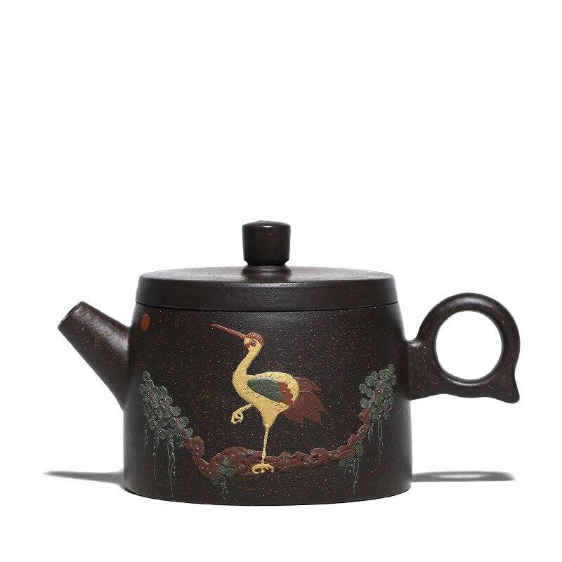 160ML Yixing tee topf lila ton zisha wasserkocher farbe handgemalte kran drink mit geschenk box