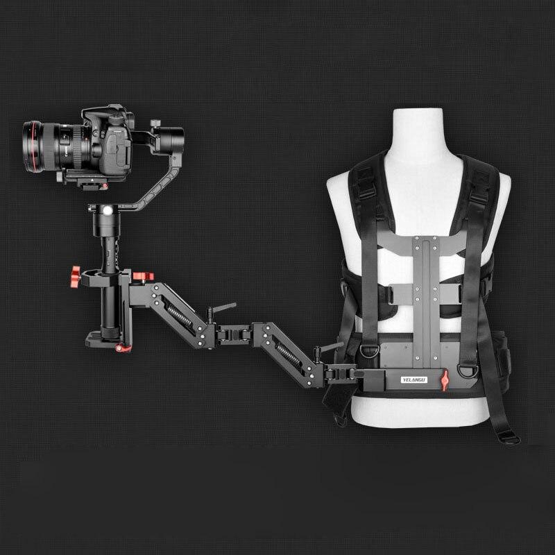 Yelangu cardán sistema de soporte amortiguador de resorte brazo y chaleco Steadicam para DJI Ronin S Zhiyun Crane 2 Moza Air 2