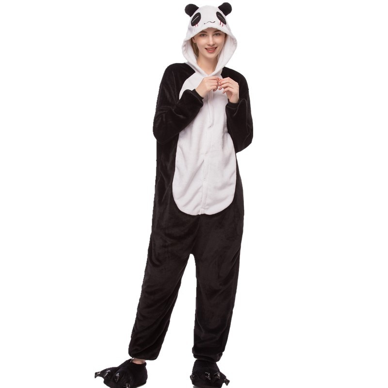 Conjunto de pijama de inverno cosplay onesies para adultos ponto panda flanela casa roupas dos homens dos desenhos animados bonito quente pijama mujer onsie