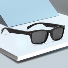 Bluetooth Sunglasses Bone Conduction Smart Sunglasses Audio Headsets Touch Control Handsfree  Blue L