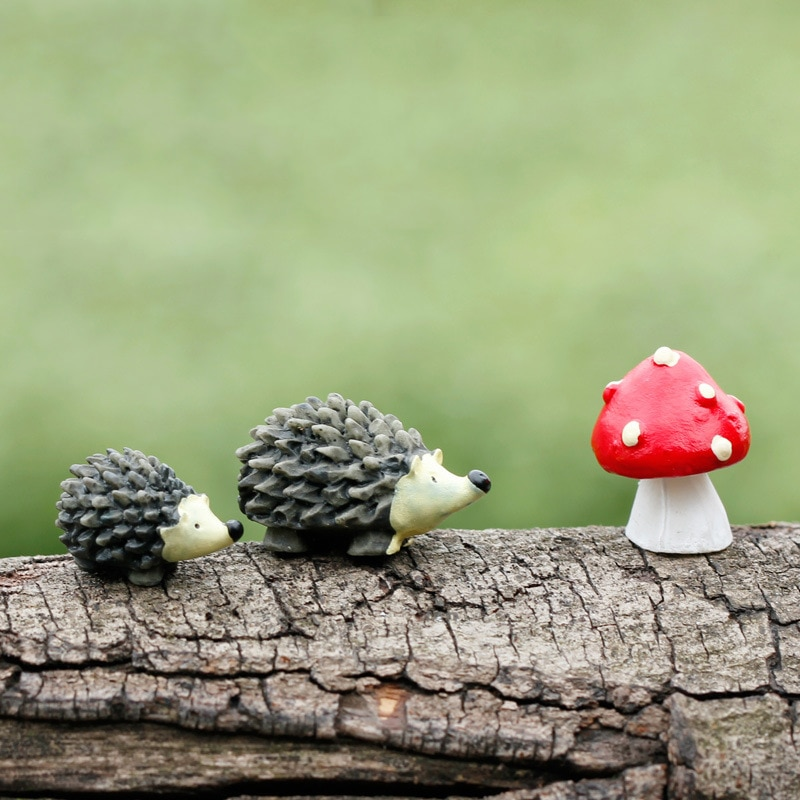 3pcs/set Miniature Dollhouse Bonsai Craft Garden Ornament For Plant Pot Hedgehog