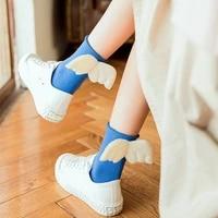 dreamlikelin women sweet angel wings socks kawaii student girls soft cotton princess socks