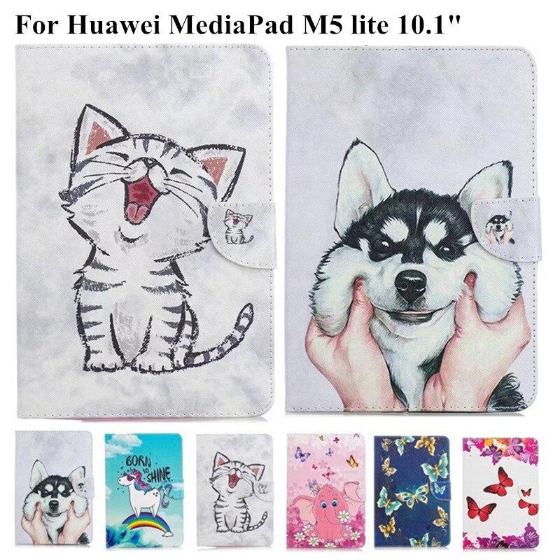 Lindo gato unicornio pintado para Huawei Media Pad M5 Lite funda BAH2-L09/W19/W09 10,1 pulgadas Tablet cubierta para Huawei M5 Lite 10 funda