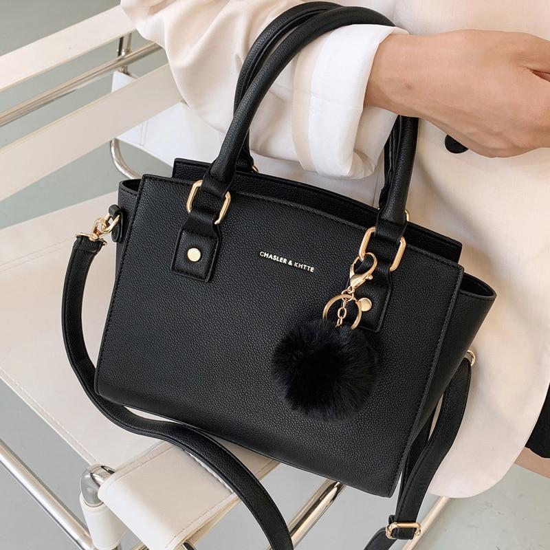Autumn Winter PU Leather Shoulder Bags for Women 2021 Winter Branded Handbags Trend Lady Designer Women's Luxury Hand Bag