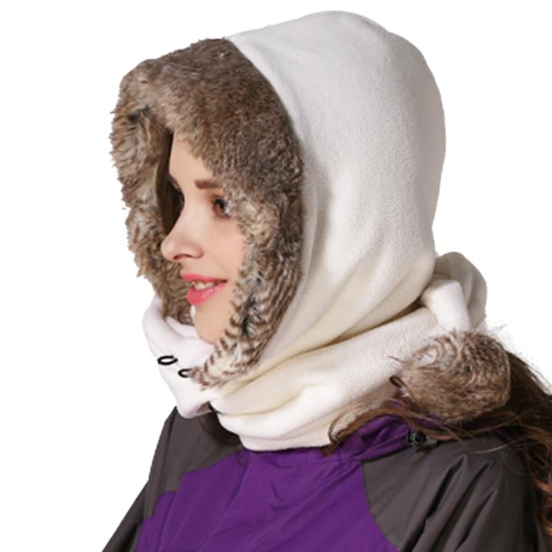 قبعات شتوية بتصميم دافئ من Outfly قبعات عالية الجودة من الفرو الحقيقي مزودة بشريحتين مستخدمة قبعات للجنسين مزودة بغطاء للرأس