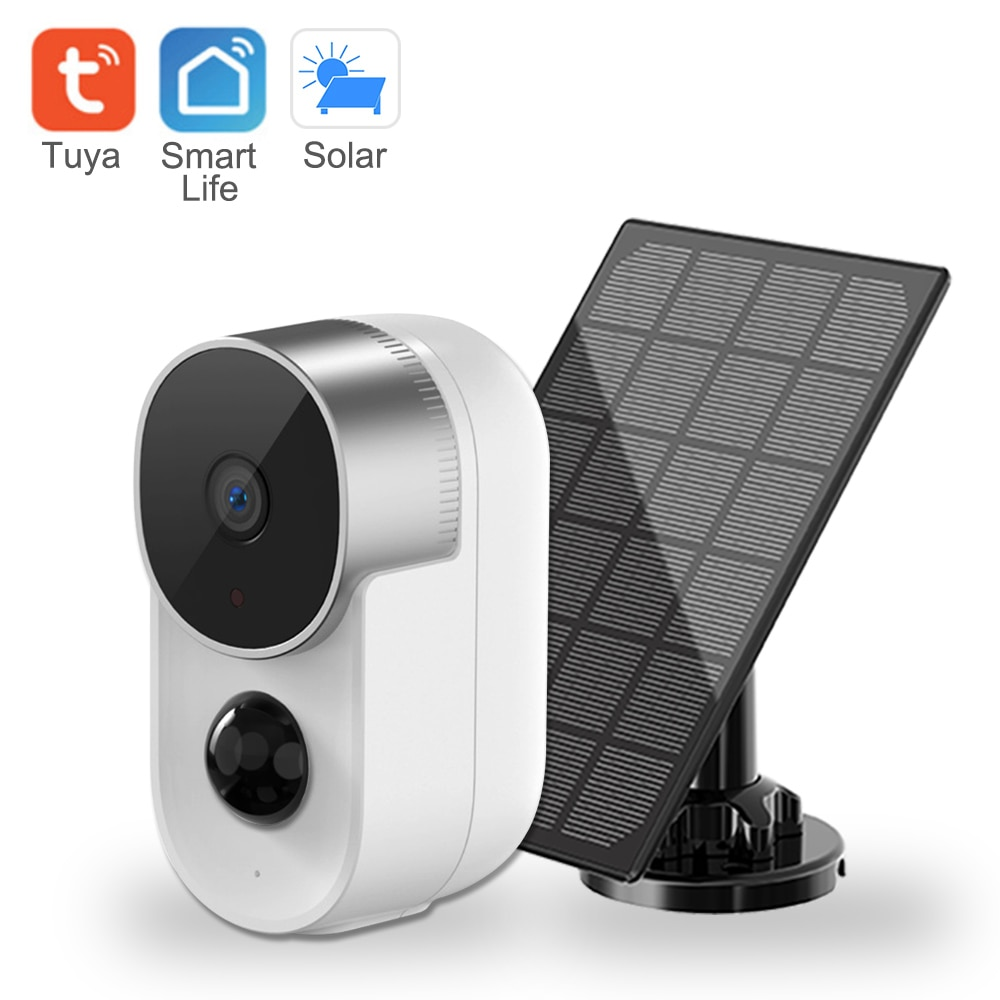 10000mAh الشمسية كاميرا Wifi كاميرا مراقبة لاسلكية في الهواء الطلق 1080P 120 درجة زاوية عرض 2.8 مللي متر للرؤية الليلية كاميرا مراقبة للمنزل