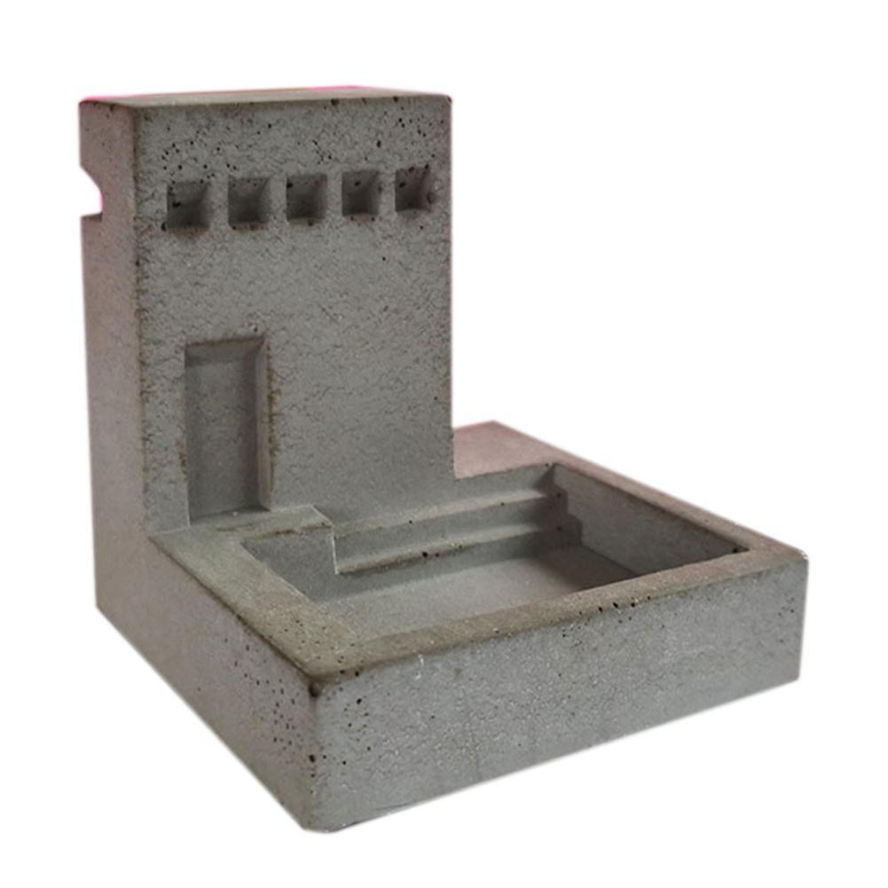 Molde de silicona pequeña casa escaleras en forma de maceteros de cemento molde de silicona Estilo nórdico escaleras tipo flor molde de jarrón