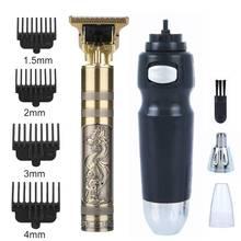 Professional Men's Hair Trimmer Clipper Nose Ear Trimmer For Men Barber Cordless Shaver Trimmer Hair