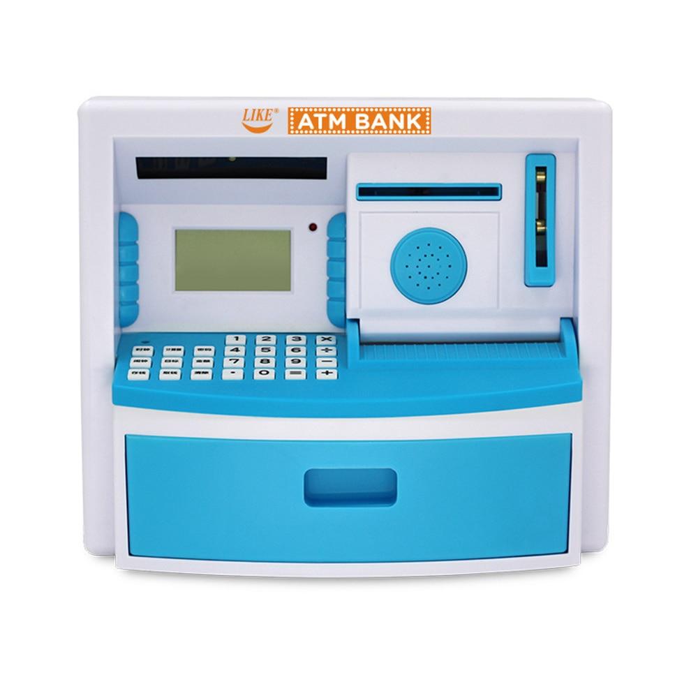 Elektronik kumbara ATM Mini para kutusu güvenlik şifre çiğneme para nakit para yatırma makinesi tasarrufu kutusu hediye çocuk çocuklar için Para Kutuları    -