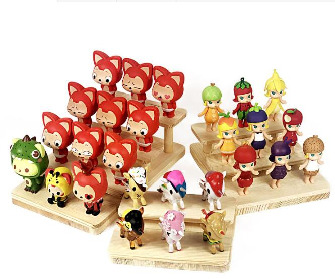 2/3/4 Layers wooden puppet toy Display Stand Eyeglasses Showing Rack Jewelry Holder Bracelet Tray Stand Watch cosmetics Shelf