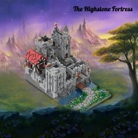 12323pcs moc 45559 the highstone fortress model building blocks toy kits by bejkrools