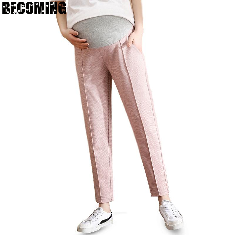 Autumn Pregnant Pants Maternity Loose Daytime Pants Casual Capris Belly Pants Maternity High Waist  Walking Pregnancy Trousers enlarge