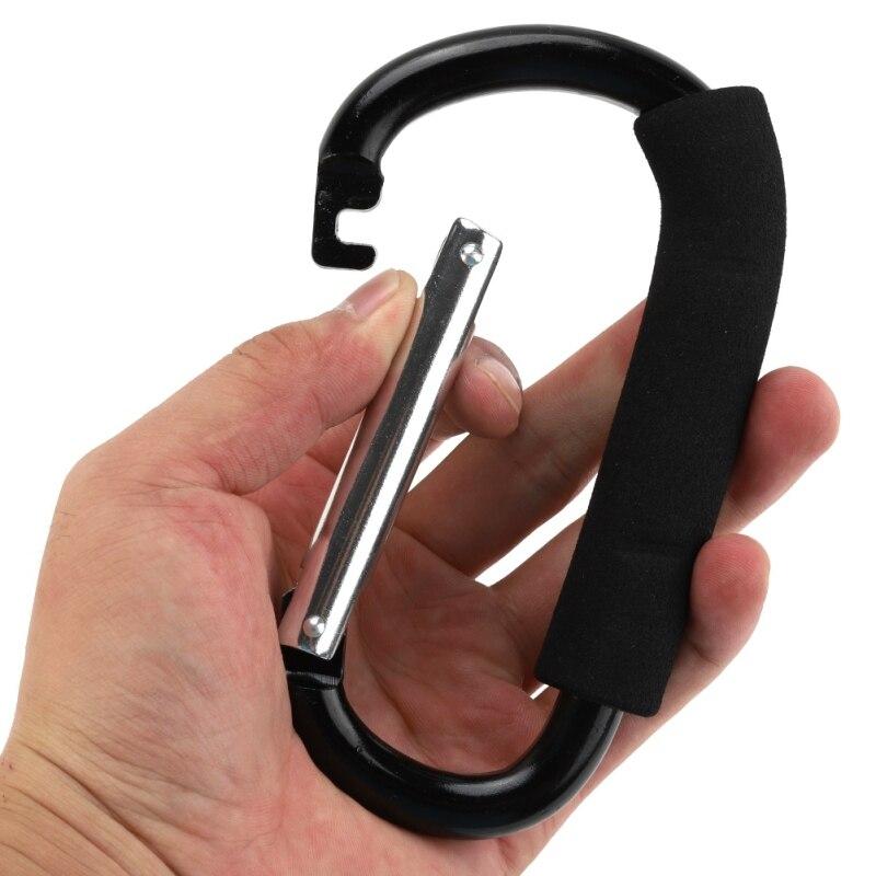 1 Pza mosquetón de aleación de aluminio en forma de D con mango suave de liberación rápida