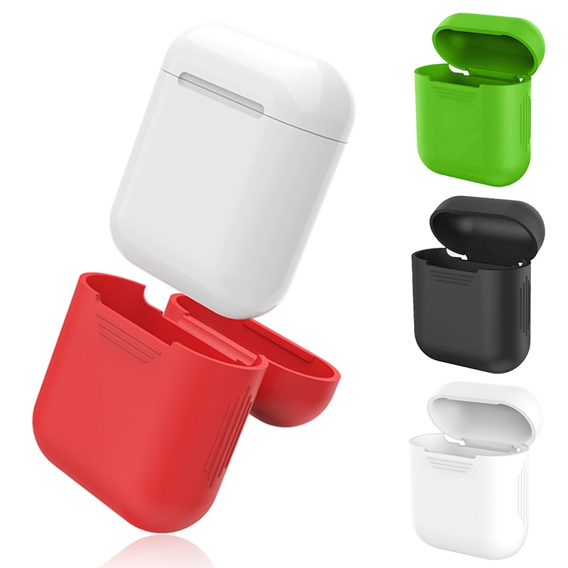 5 Color Wireless Earphone Case ForApple Airpods Silicone Charging Headphones Case For Apple Airpods Bluetooth Protective Cover