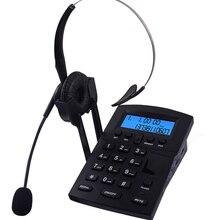 Téléphone à casque téléphonique filaire avec identification et recomposition de lappelant FSK et DTMF, luminosité et Volume LCD réglables