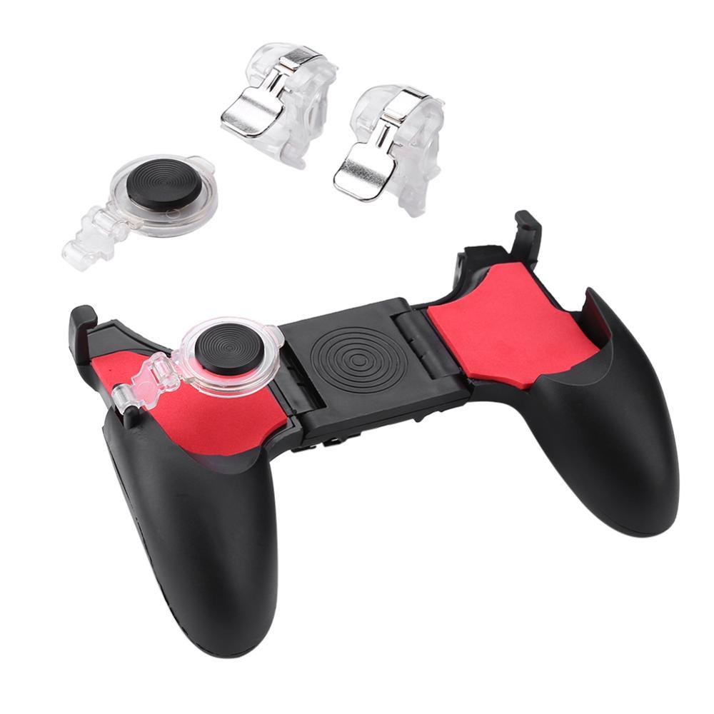 5 em 1 pubg moible controlador gamepad fogo livre l1 r1 desencadeia pugb móvel jogo almofada aperto l1r1 joystick para iphone android telefone