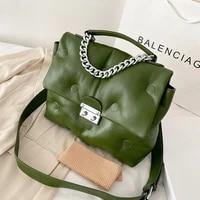 luxury designer handbags women fashion plain crossbody shoulder bag ladies leather big capacity messenger flap bags for woman
