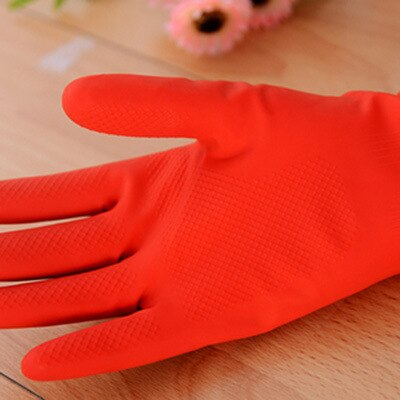 Waterproof latex glove Dish washing accessory Long sleeves Wool rubber with velvet  bowl and dishes clean home furnishing enlarge