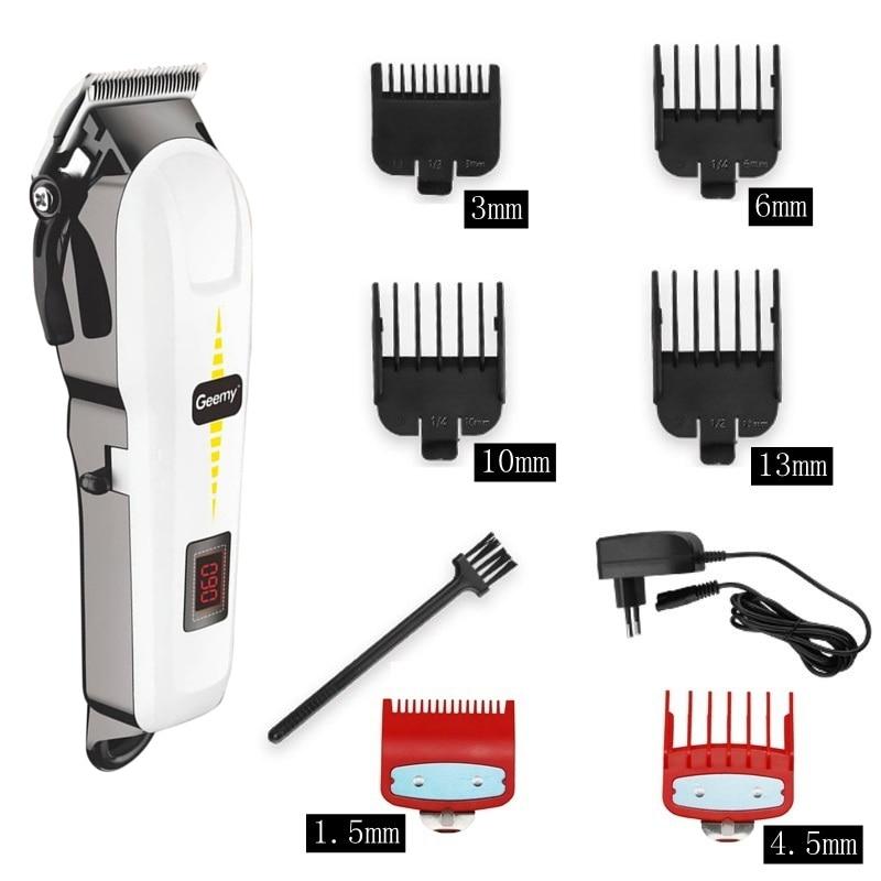 professional barber hair clipper cordless hair trimmer beard trimer for men electric hair cutting machine rechargeable hair cut enlarge