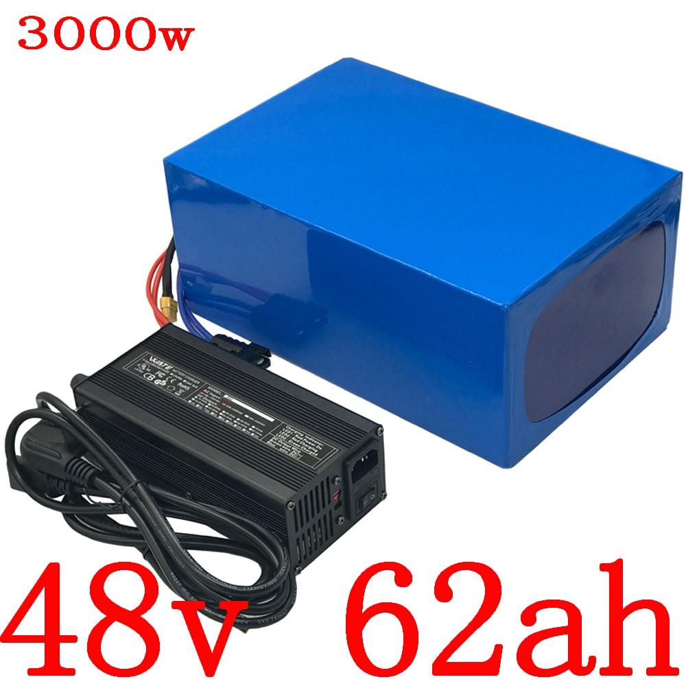 Batería de litio para bicicleta eléctrica de 48V, 3000W, 2000W, 1000W, 48V, 60Ah, 48V, 30Ah, 35Ah, 40Ah, 45Ah, 50Ah, 55AH, 60Ah, batería de bicicleta eléctrica