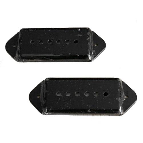 Un par de fundas de pastilla de guitarra para perros p90 de P-90 en negro (C42)