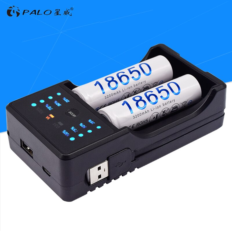 PALO AA AAA 18650 14500 Зарядное устройство Быстрая зарядка для nimh nicd AA AAA A SC батарея для 3,7 В литий-ионная батарея 22650 26500