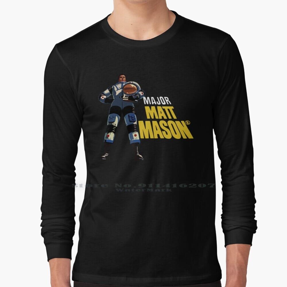 Major Matt Mason T Shirt 100% Pure Cotton Major Matt Mason Space Cannon Vintage Toy Retro The 60s Outer Moon Sun Astronaut