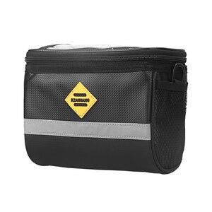 Изолированная сумка на руль для велосипеда, Водонепроницаемая MTB велосипедная корзина на руль, передняя сумка, сумка на плечо, велосипедный ...