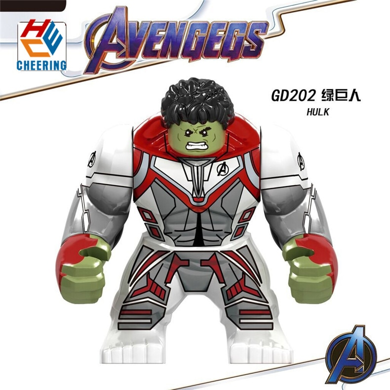 Avengers 4 Endgame DC 7cm Big Figures Building Blocks Bricks Thor's friend Korg Thanos Hulk Chitauri Dolls Toys For Kids GD202