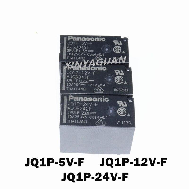 100 قطعة/الوحدة جديد مرحل الطاقة الأصلية JQ1P-5V-F AJQ6349F/JQ1P-12V-F AJQ6341F/JQ1P-24V-F AJQ6342F DC5V DC12V DC24V 10A 5Pin