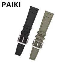 Nylon Watch  Strap For IWC PILOT Canvas Watchbands  21mm 22mm Black Green Watch Band Belt With Pin B